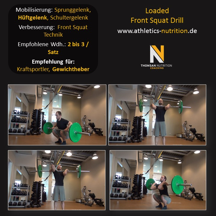 Loaded Front Squat Drill